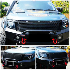 Ford Ranger Front Grille Before Facelift With 3 Amber Led Drl Abs Batte Black