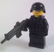 Lego ww2 Army Modern Combat Soldier Black  Brickarms Made With Real Lego(r)