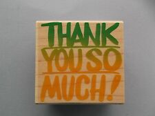 HERO ARTS RUBBER STAMPS BIG BOLD THANK YOU NEW wood STAMP