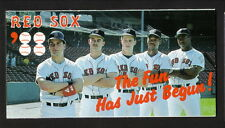 1988 Boston Red Sox Schedule--Polaroid--Greenwell/Burks/Benzinger/Marzano/Horn