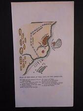 Battle of Vera Cruz 1847 Map Hand Color Mexican American War San Juan de Ulloa