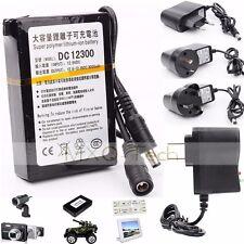 12V 3000mAh Li-ion Rechargeable Battery+AC Wall Charger US/EU/UK/AU Adapter Plug