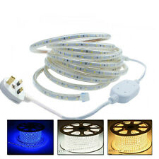 6 Meter Cool White LED Strip 220V 240V IP67 Waterproof 3528 Light Rope Tape Xmas