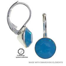 pendientes con elementos de Swarovski, Color: Caribe ópalo, Azul