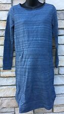 Gap XS Dress MATERNITY Blue Space Dye Knee Length Long Sleeve NWT