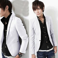 Stylish Fashion Men's Casual Slim Fit One Button Suit Blazer Coat Jacket Tops