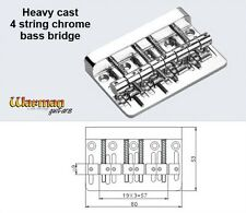 4 saddle heavy chrome BASS bridge