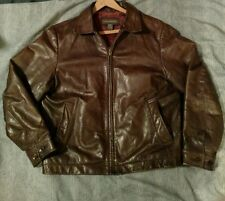 BANANA REPUBLIC®Vintage LEATHER Rocker MOTORCYCLE Halsey JACKET Mens small brown