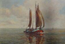 """C. de sales (XIX-XX) """"fischewer en el Elba"""" 1937, aceite/Leinen, ge (213/12029"""