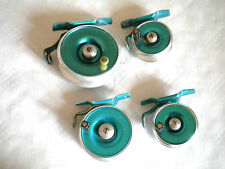 Vintage fly fishing reels collection Peerless profil 7,5 cm, 6 cm, 5 cm x 2 années 60