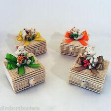 Offerta stock Bomboniere confettate scatoline gatti nascita battesimo comunione