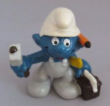 Smurfs Vintage Handy Smurf with overalls, tool box