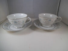Vintage Pair of English Garden Made in Japan Teacup Tea Cups & Saucer Flowers