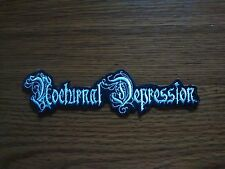 NOCTURNAL DEPRESSION,IRON ON WHITE EMBROIDERED PATCH