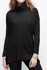 NWT Ann Taylor Cashmere Turtleneck Poncho in Black Size XS