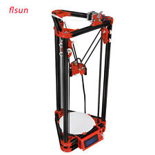 Reprap Metal Frame 3D Printer Kit Delta Kossel Auto Leveling+Heated Bed From USA