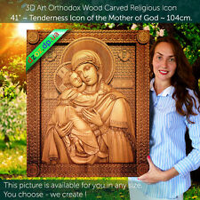 "41"" Wood Carving 3D Mother of God 12 icons to choose from Vladimir, Kaluga ..."