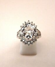 925 Sterling Silver Ring With White Topaz UK M 1/2 US 6.50 (rg1444)