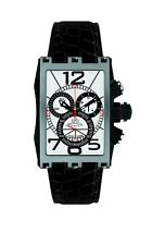Gio Monaco Men's 626-A Mac V Chronograph Silver Dial Alligator Leather Watch