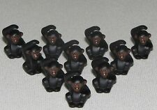 LEGO LOT OF 10 NEW BLACK AND BROWN CHIMPANZEES MONKEYS ZOO ANIMALS