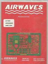 Airwaves etched metal 72-83 Mitsubishi A6M5 Zero detail set in 1:72 Scale