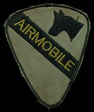 US Army 1st Cavalry Division Airmobile OD Green Theater Made Vietnam Patch A-5