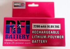 RFI 2200mAh 4S 14.8V 20C Lipo Battery E-flight Zippy Blade Hex Fly Losi Compact