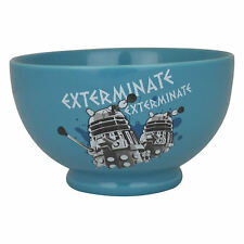 DALEKS EXTERMINATE CERAMIC BOWL RETRO DR DOCTOR WHO CEREAL SOUP DESSERT KIDS