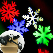LED Snowflake Laser Light Projector Lamp Outdoor Moving For Xmas Party Decor