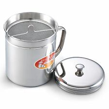 Stainless Reuse Oil Storage Container Filter Deep Fryer Food Cooking Kitchen New