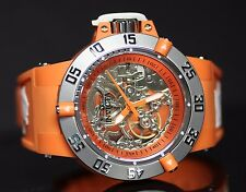 Invicta Subaqua Noma III Anatomic Skeleton Dial Mechanical Orange Silicone Watch
