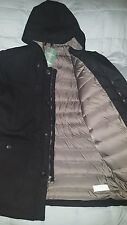 Men's LL Bean Allagash Coat Parka size Medium Reg, Black MSRP $249-