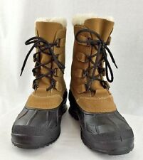 WOMENS KAMIK WATERPROOF ALBORG LEATHER RUBBER BOOTS SIZE 10 NWOT