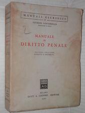 MANUALE DI DIRITTO PENALE Giuseppe Santaniello Giuffre Manuali 1961 giuridica di