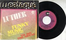 LUTHER disco 45 giri STAMPA ITALIANA Funky Music 1976 MADE in ITALY