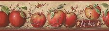 Country Apples & Stars -Wallpaper Border by York