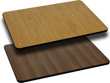 24 x 30 Rectangular Table Top w/Natural or Walnut Reversible Laminate Top Table