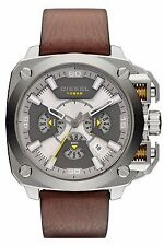 Diesel DZ7343 Men's BAMF Brown Leather Band Analog Chronograph Watch