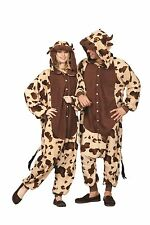 ADULT BULL COW COSTUME MOO COW FARM ANIMAL PAJAMAS COSTUMES JUMPSUIT 40024