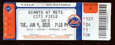 June 9 2015 New York Mets Ticket Chris Heston No Hitter