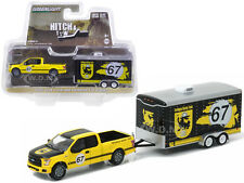 2015 FORD F-150 & TERLINGUA RACING TRAILER HITCH & TOW 9 1/64 GREENLIGHT 32090 C