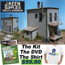 RAILROAD KITS HO SCALE FSM J. KEEN SUPPLIES FINE MINIATURES, DVD, KIT, T SHIRT