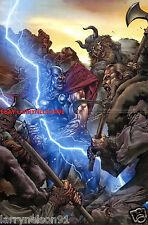 THOR RAGE MARVEL COMIC BOOK POSTER MICO SUAYAN GOD OF THUNDER AVENGERS REVENGE