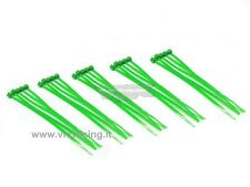 25 FASCETTE CABLAGGIO PLASTICA NYLON COLORATE VERDI CABLE TIES 25PZ 100mm VRX