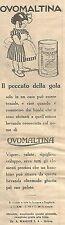 W2244 OVOMALTINA - Il peccato della gola... - Pubblicità del 1930 - Old advert