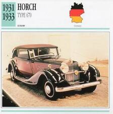 1931-1933 HORCH Type 670 Classic Car Photograph / Information Maxi Card