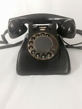 VINTAGE ANTIQUE TELEPHONE BLACK ROTARY DIAL PHONE PTT ERICSSON HOLLAND CLEAN!