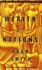 The Wealth of Nations (Bantam Classics) by Adam Smith Mass Market Paperback NEW
