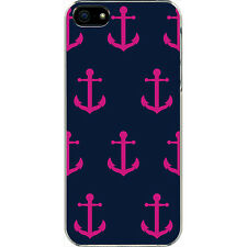 Navy Blue and Pink Faith Hope Anchor Design iPhone 6 White Slim Case Cover