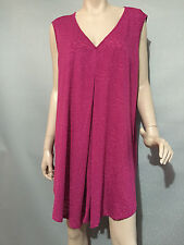 BNWT Womens Sz 18 Autograph Brand Raspberry Sleeveless Stretch Tunic Top RRP $50